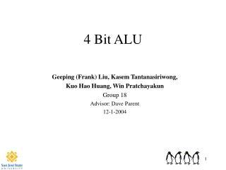 4 Bit ALU