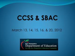 CCSS  SBAC