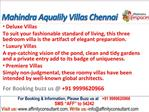 Mahindra Lifespaces Aqualily Villas Chennai