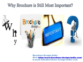 Significance of an Attractive Brochure Design