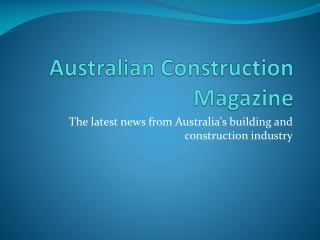 Australian Construction Magazine