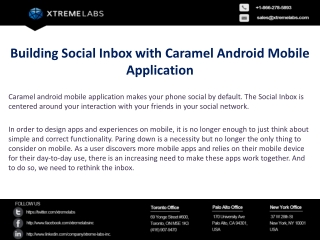Building Social Inbox with Caramel Android Mobile Applicatio