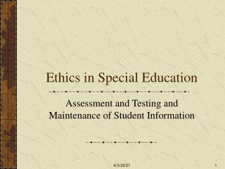 Ethics in Special Education