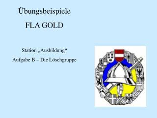 bungsbeispiele FLA GOLD  Station  Ausbildung   Aufgabe B   Die L schgruppe
