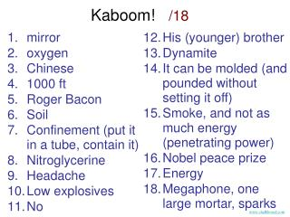 mirroroxygenChinese1000 ftRoger BaconSoilConfinement put it in a tube