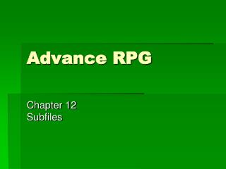 Advance RPG
