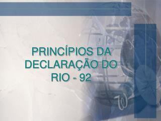 PRINC PIOS DA DECLARA  O DO RIO - 92