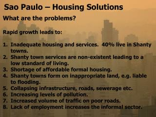 Sao Paulo   Housing Solutions