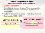 A GUERRA DO VIETN : Confer ncia de Genebra:  divis o do Vietn  era tempor ria. Reunifica  o ocorreria ap s a realiza  o