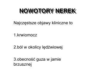 NOWOTORY NEREK