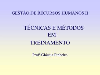 GEST O DE RECURSOS HUMANOS II