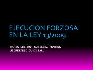 MARIA DEL MAR GONZALEZ ROMERO. SECRETARIO JUDICIAL.
