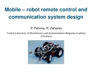 Mobile   robot remote control and communication system design