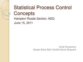 Statistical Process Control Concepts