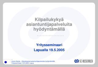 Kilpailukyky  asiantuntijapalveluita hy dynt m ll