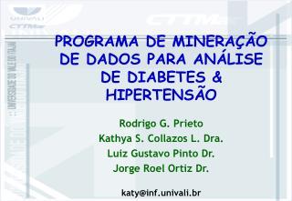 PROGRAMA DE MINERA  O DE DADOS PARA AN LISE DE DIABETES  HIPERTENS O