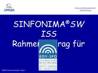 SINFONIMA SWISS Rahmenvertrag f r den