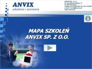 MAPA SZKOLEN  ANVIX SP. Z O.O.