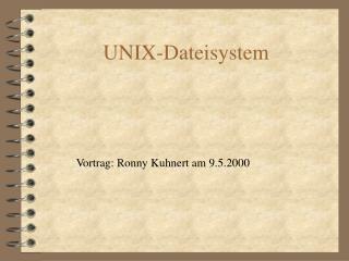 UNIX-Dateisystem