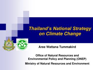 Thailand s National Strategy on Climate Change