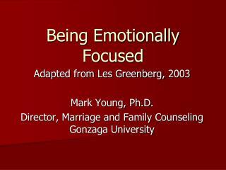 Being Emotionally Focused