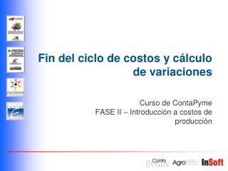 Fin del ciclo de costos y c lculo de variaciones