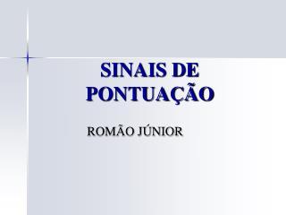 SINAIS DE PONTUA  O