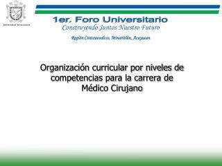 Organizaci n curricular por niveles de competencias para la carrera de               M dico Cirujano