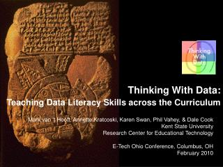Thinking With Data: Teaching Data Literacy Skills across the Curriculum