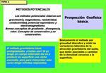 METODOS POTENCIALES   Los m todos potenciales cl sicos son gravimetr a, magnetismo, resistividad, conductividad, potenci