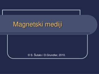 Magnetski mediji