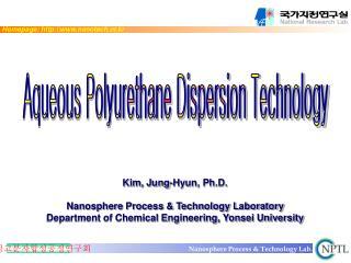 Kim, Jung-Hyun, Ph.D.  Nanosphere Process  Technology Laboratory Department of Chemical Engineering, Yonsei University