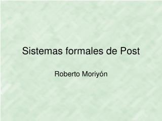 Sistemas formales de Post