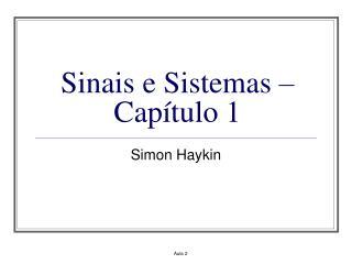Sinais e Sistemas   Cap tulo 1