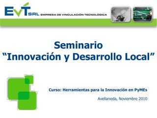 Seminario  Innovaci n y Desarrollo Local