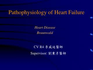 Pathophysiology of Heart Failure