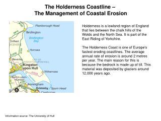 The Holderness Coastline    The Management of Coastal Erosion