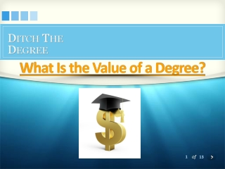The Value of a Degree