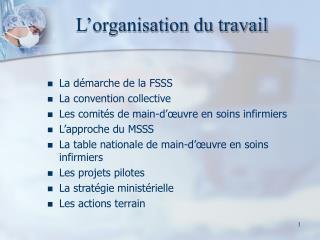L organisation du travail