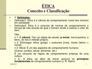 TICA Conceito e Classifica  o