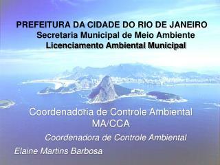 PREFEITURA DA CIDADE DO RIO DE JANEIRO    Secretaria Municipal de Meio Ambiente     Licenciamento Ambiental Municipal