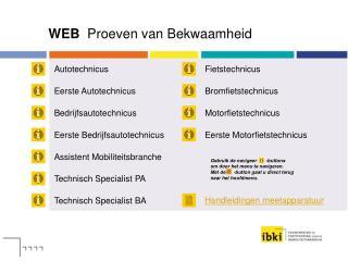 WEB  Proeven van Bekwaamheid