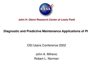 Diagnostic and Predictive Maintenance Applications of PI