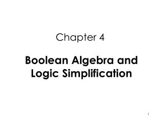 Boolean Operations and Expressions