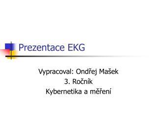 Prezentace EKG