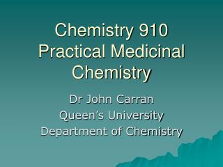 Chemistry 910
