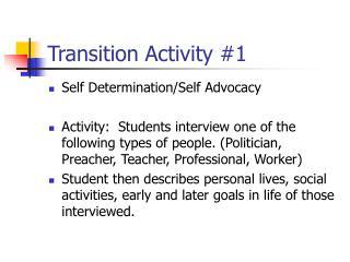 Transition Activity 1