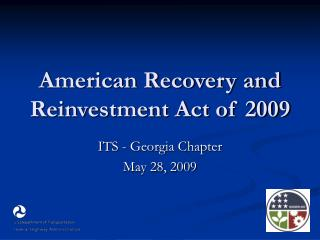American Recovery and Reinvestment Act of 2009