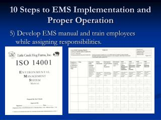 10 Steps to EMS Implementation and Proper Operation