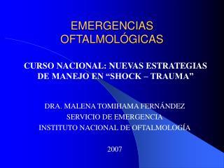 EMERGENCIAS OFTALMOL GICAS